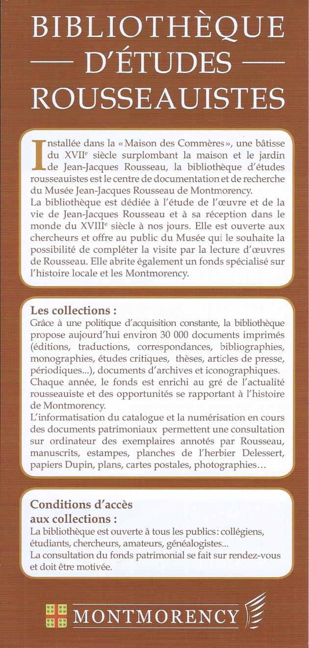 Musée Biblio Rousseau