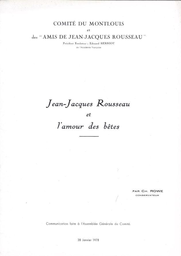 Rousseau et l'amour des bêtes