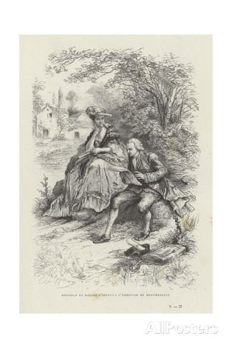 rousseau-et-madame-d-epinay-a-l-ermitage-de-montmorency